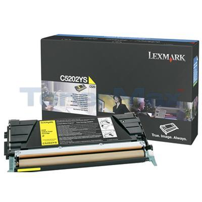 LEXMARK C520 C530 RP TONER CART YELLOW